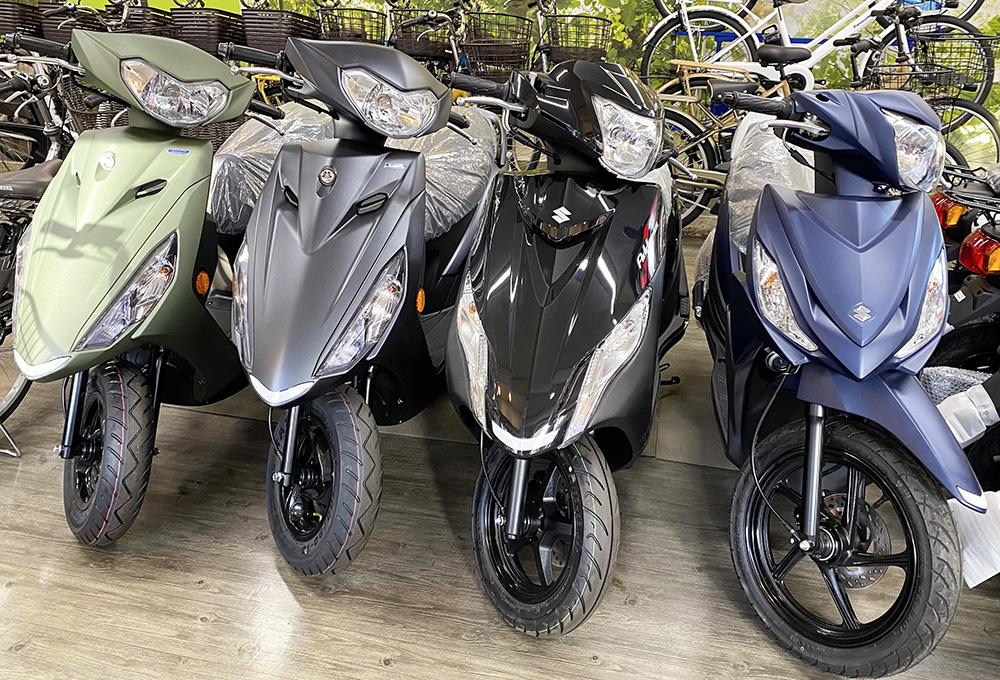 店内のバイク