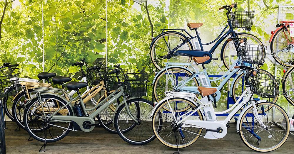 店頭の電動自転車